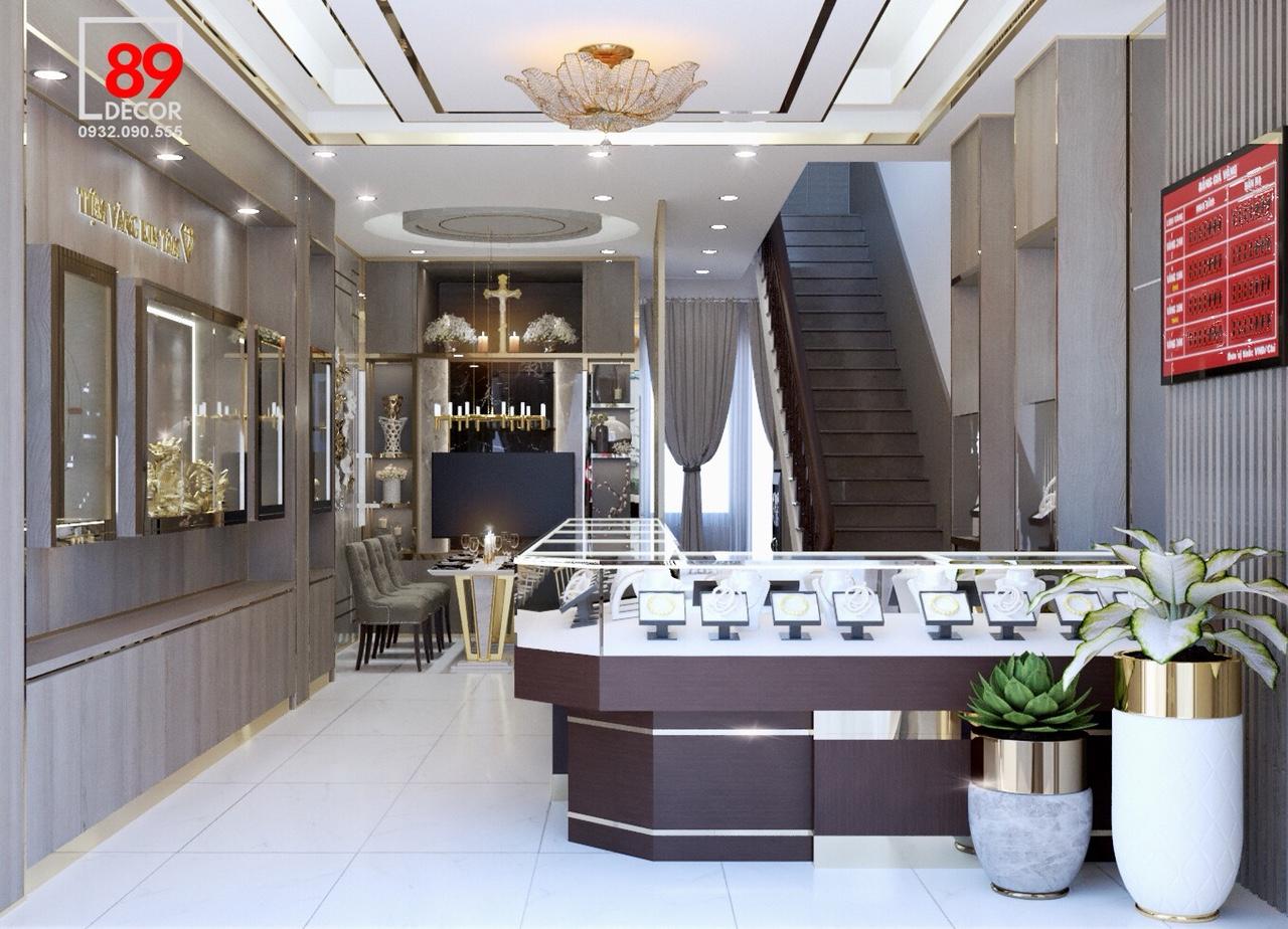 thiết kế nội thất tiệm vàng